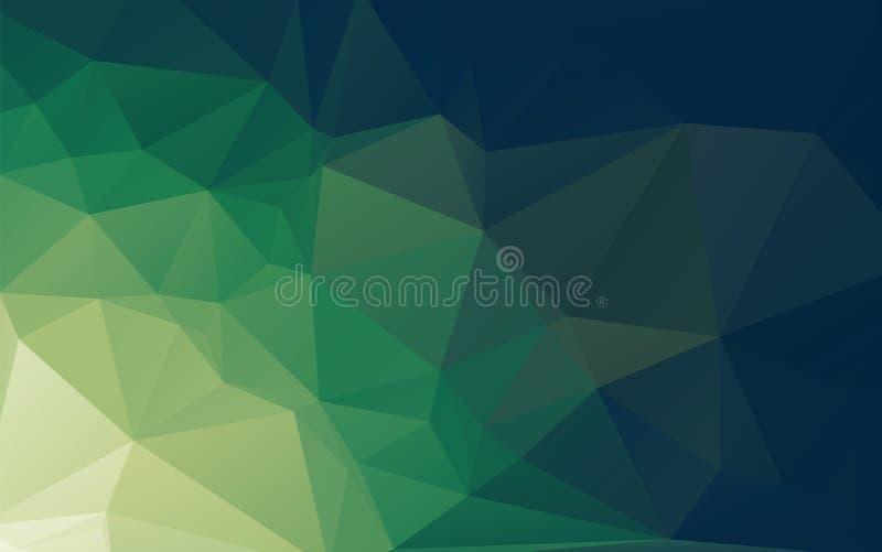 Zielony Abstrakcjonistyczny Niski Poli- Wektorowy tło ilustracji