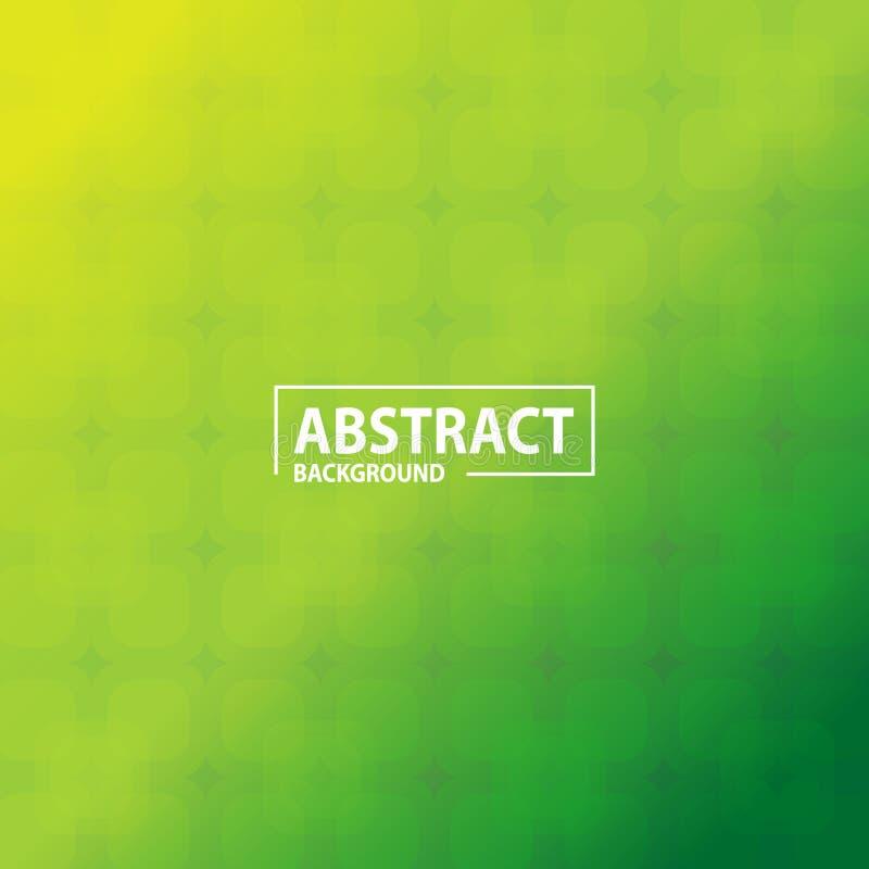 Zielony abstrakcjonistyczny tło szablon z przejrzystym kształtem royalty ilustracja
