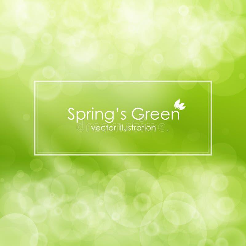 Zielony abstrakcjonistyczny tło, wektorowa ilustracja ilustracji