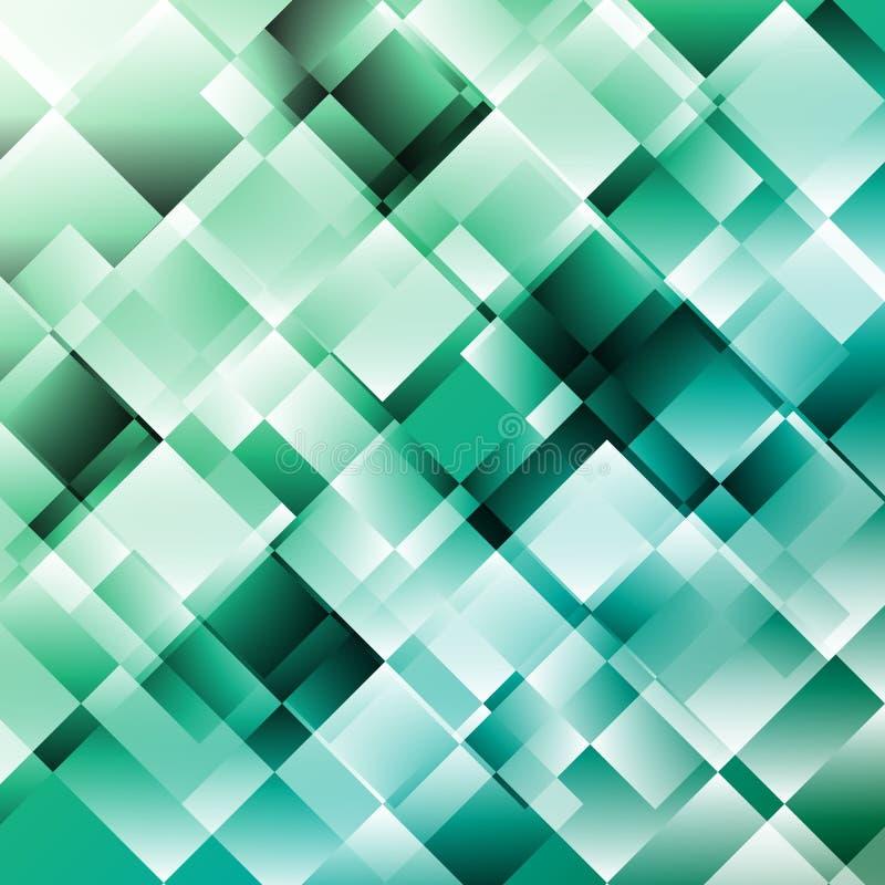 Zielony abstrakcjonistyczny tło z geometrycznym wzorem ilustracja wektor