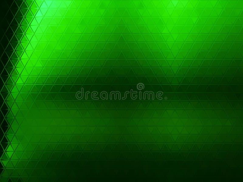 Zielony abstrakcjonistyczny trójboka tło obrazy royalty free
