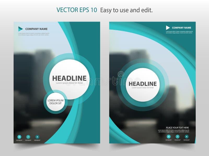 Zielony abstrakt krzywy sprawozdania rocznego broszurki projekta szablonu vect ilustracji