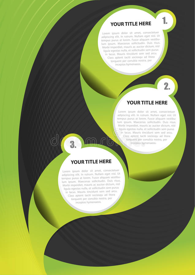 Zielony abstrakta wektoru tło dla broszurki royalty ilustracja