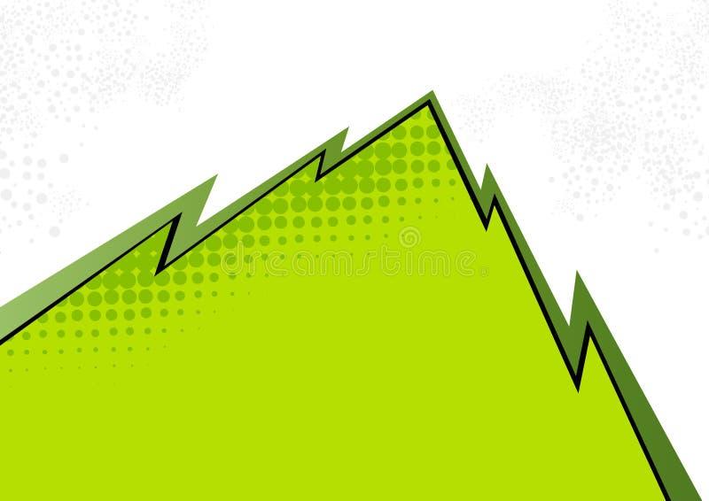 zielony abstrakta zbocze góry ilustracja wektor