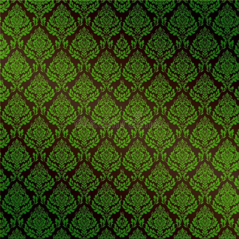zielony adamaszkowy bezszwowy ilustracji