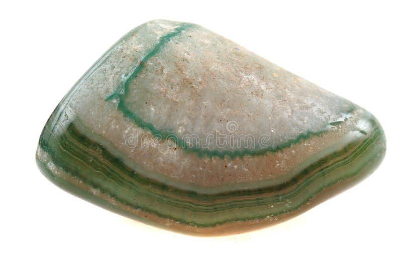 Zielony agat odizolowywający obrazy royalty free