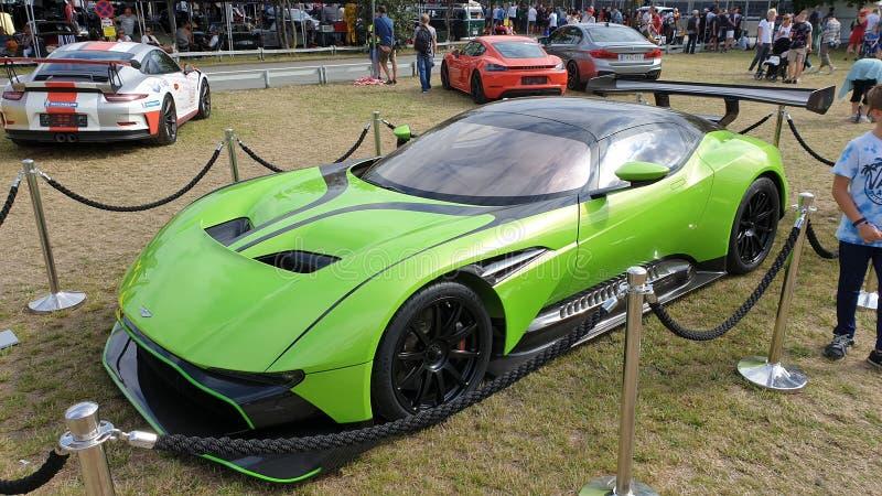 Zielony Aston Martin Vulcan obraz royalty free