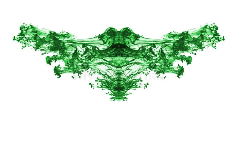 Zielony atrament. fotografia royalty free