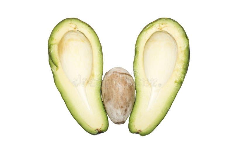 Zielony Avocado Avocado cięcie w dwa połówki zdjęcia royalty free