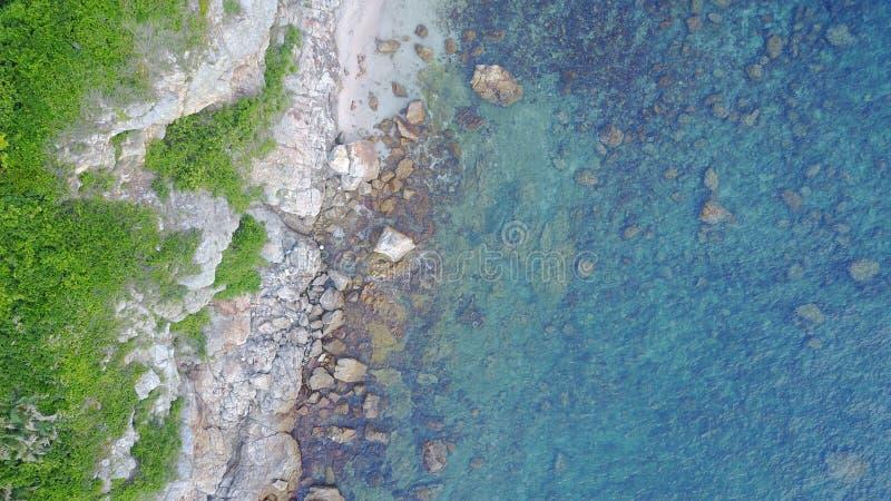 zielony błękitny denny niebo obraz stock