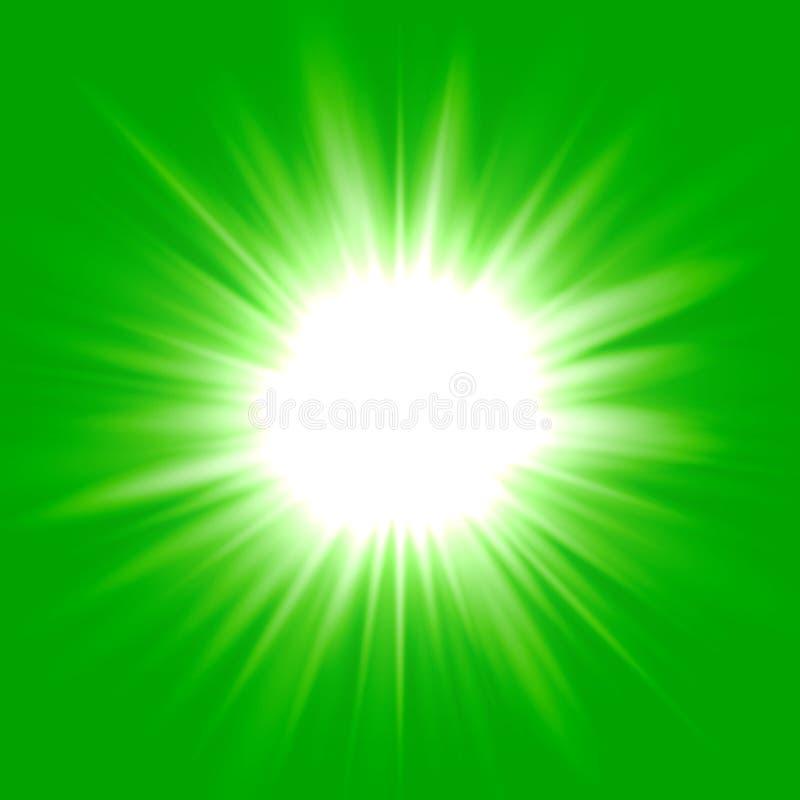 Zielony błysk gwiazdy tło royalty ilustracja
