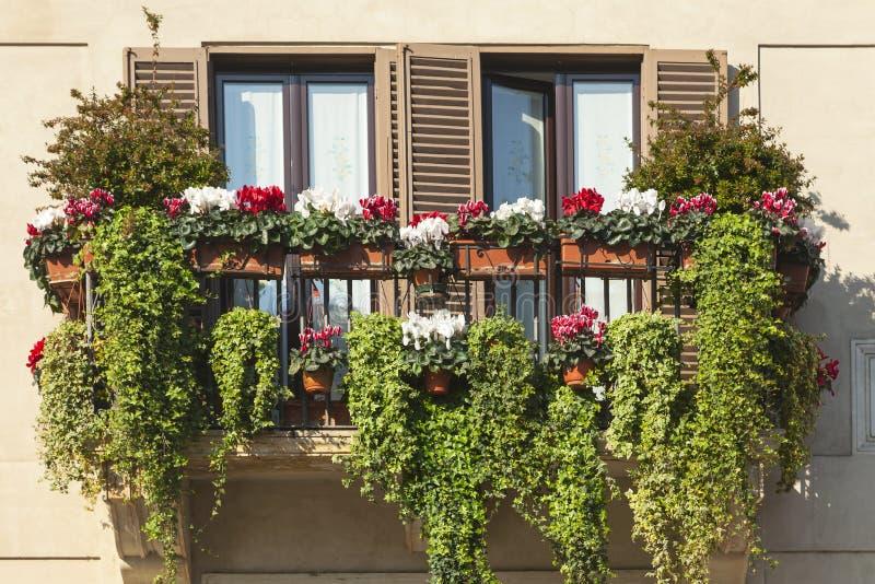 Zielony balkon obraz royalty free