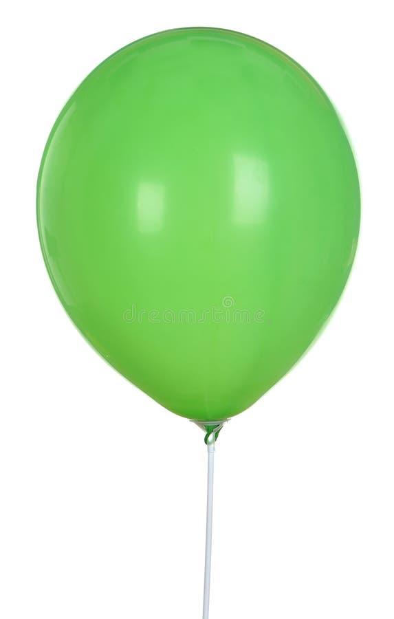 Zielony balon Odizolowywający Na Białym tle fotografia royalty free