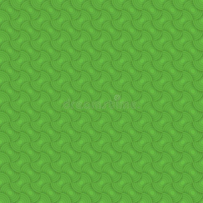 Zielony bezszwowy deseniowy tło nowożytna elegancka tekstura Wielostrzałowe geometryczne płytki royalty ilustracja
