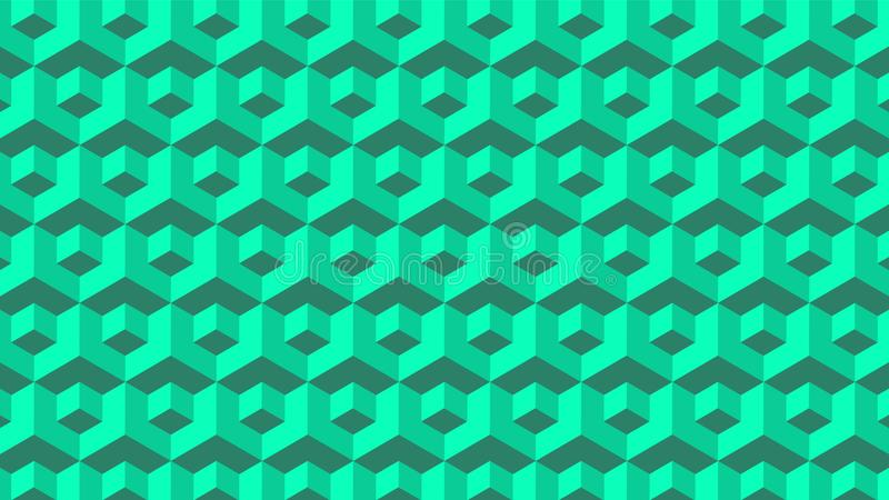 Zielony Bezszwowy Geometryczny bloku wzór zdjęcie royalty free