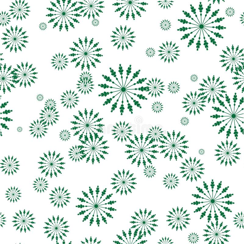 Zielony bezszwowy powtórka wzór ilustracji