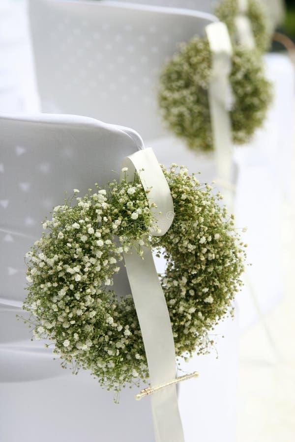 zielony biały wianek fotografia stock