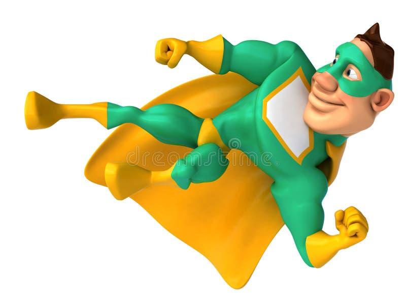 zielony bohater ilustracja wektor