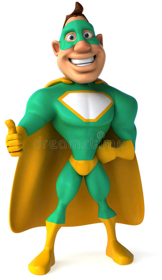 zielony bohater royalty ilustracja
