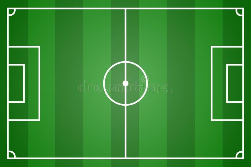 Zielony boisko do piłki nożnej wektor royalty ilustracja