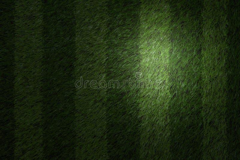 Zielony boisko piłkarskie z punktu światłem fotografia stock