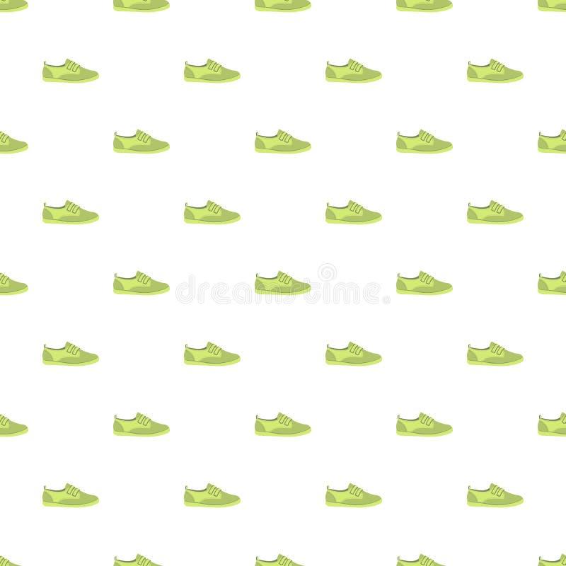 Zielony buta wzór bezszwowy ilustracja wektor