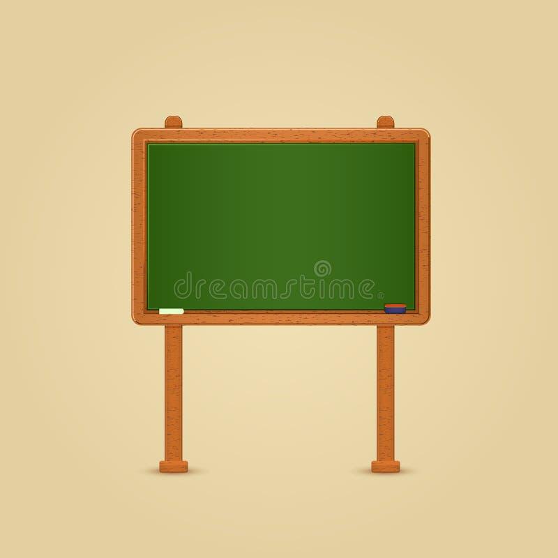 zielony chalkboard drewno ilustracji
