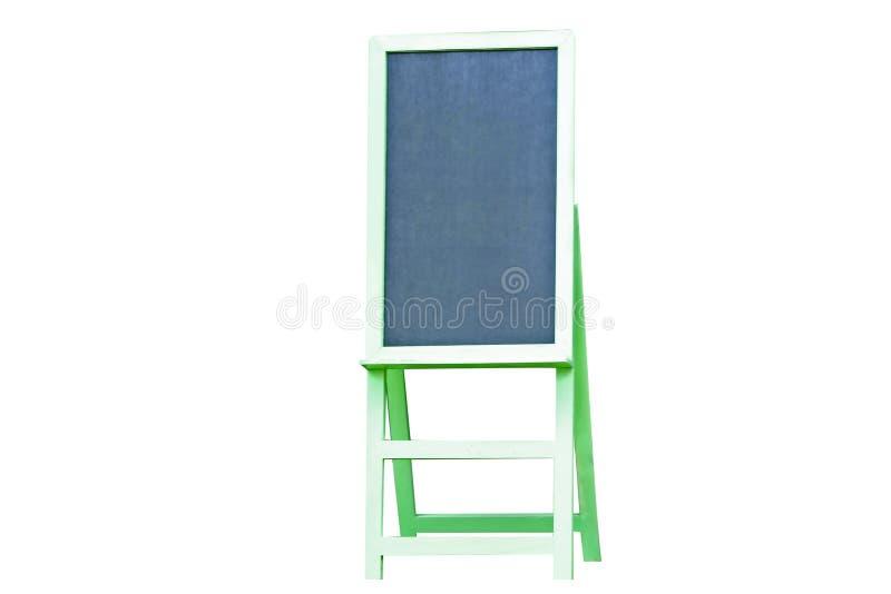 Zielony chalkboard menu odizolowywający na białym tle fotografia royalty free