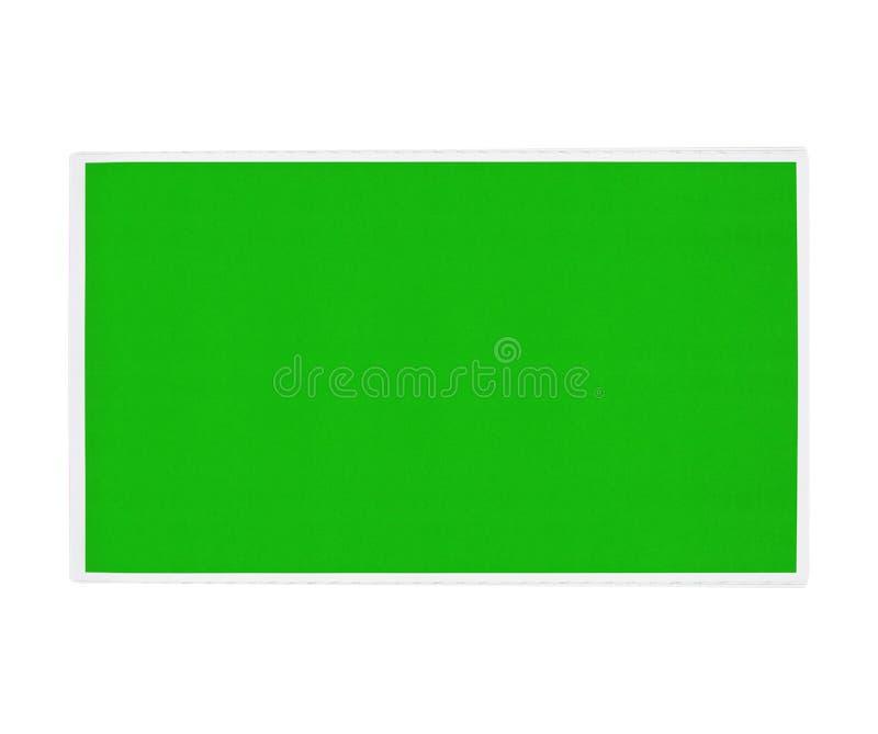 Zielony chalkboard odizolowywający fotografia stock