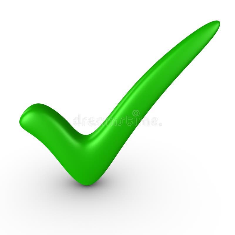 Zielony check-mark ilustracji