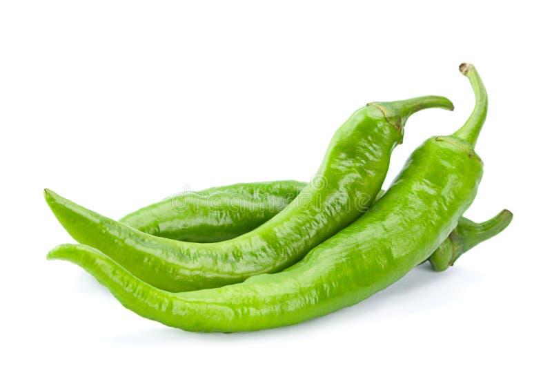 Zielony chili pieprz obrazy royalty free