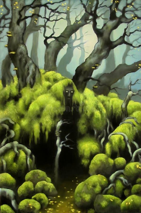 zielony człowiek ilustracji