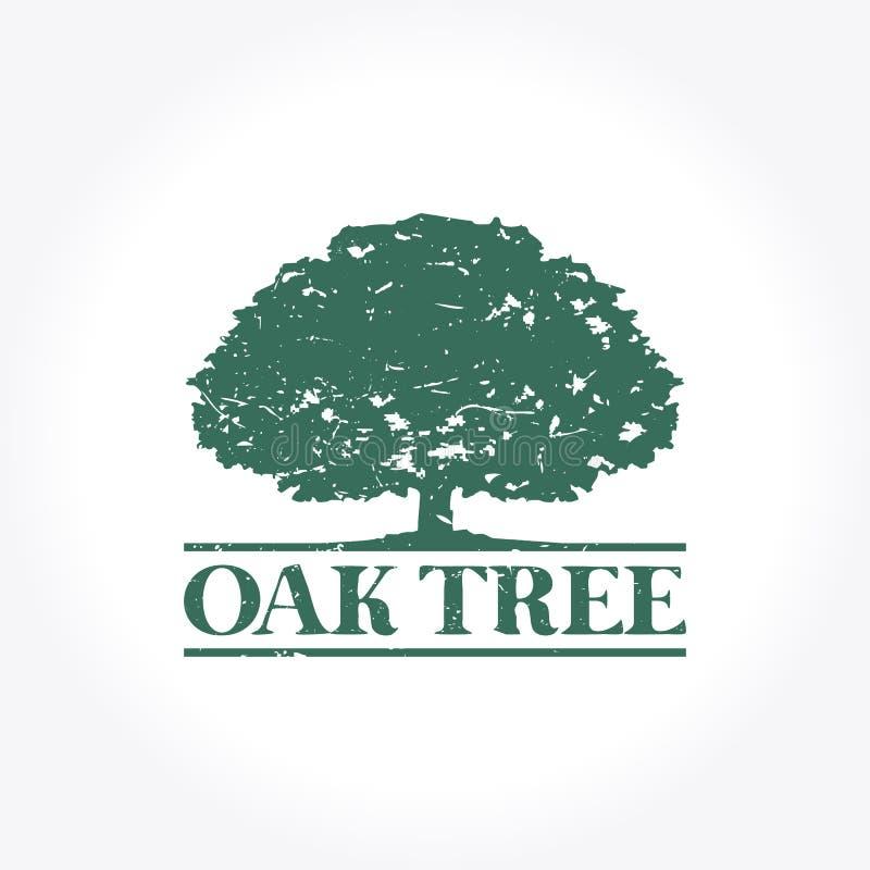 Zielony Dębowego drzewa logo ilustracji
