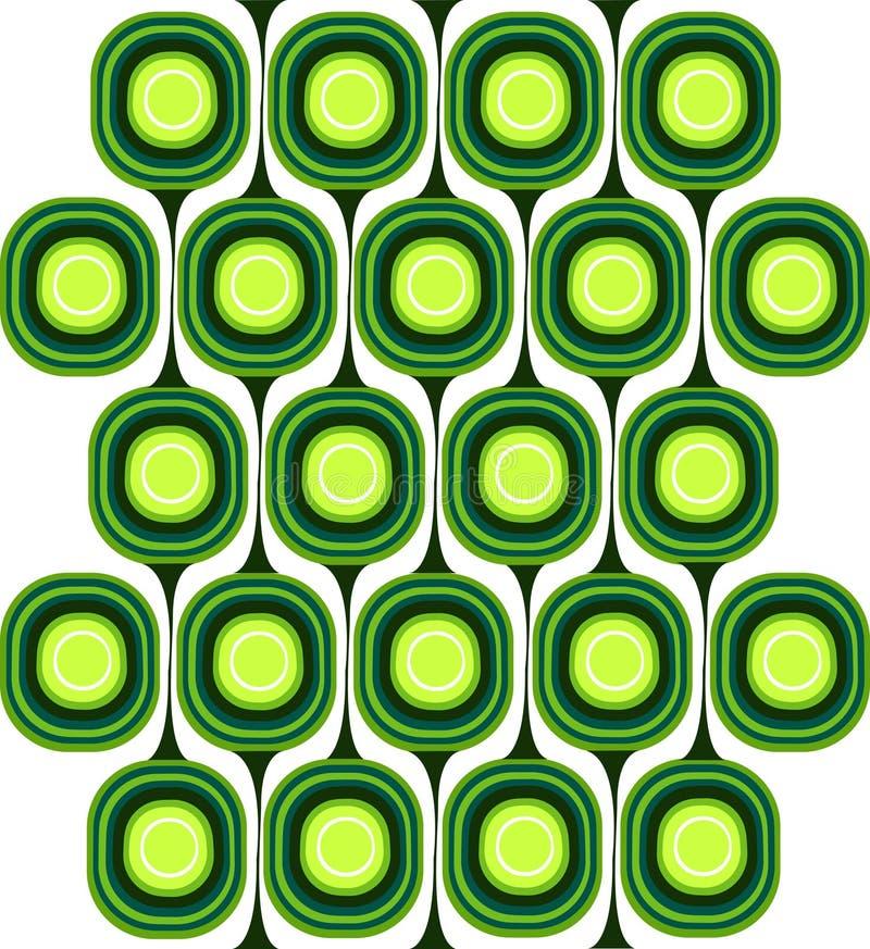 zielony deseniowy retro ilustracji