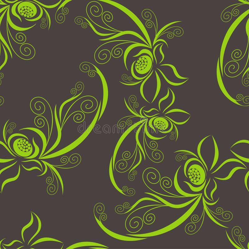 zielony deseniowy warzywo ilustracja wektor