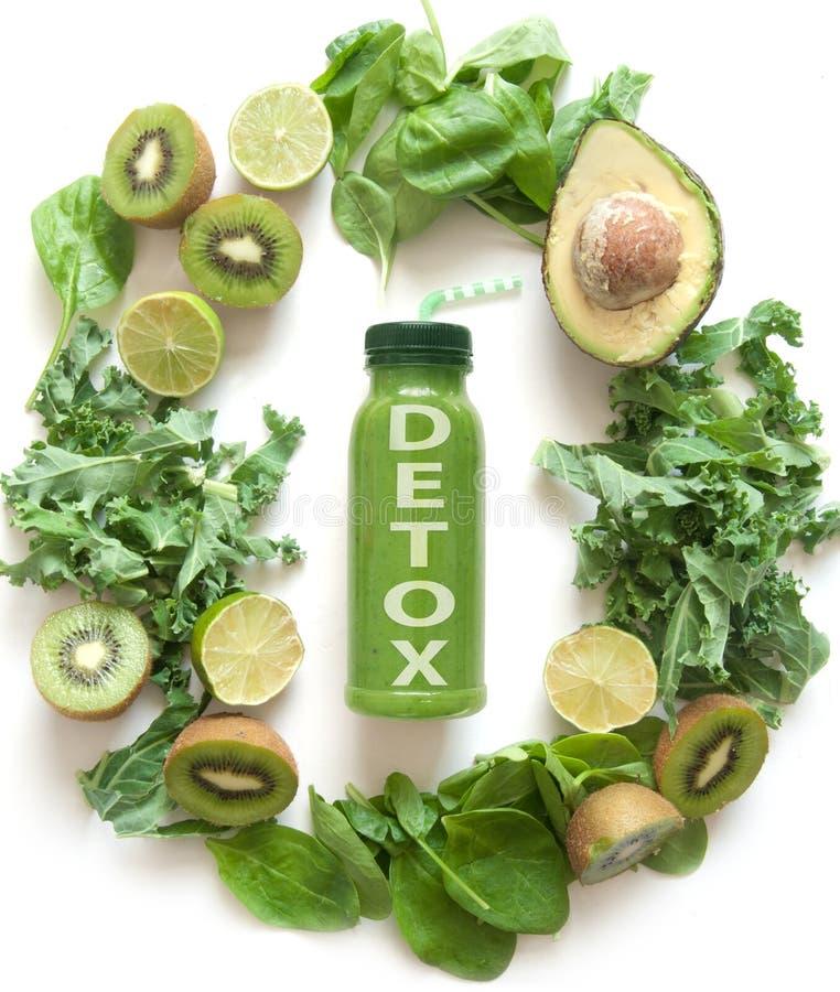 Zielony Detox smoothie zdjęcie stock