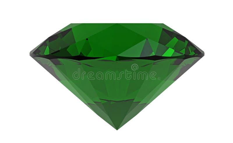 Zielony diament, szmaragd, 3D rendering ilustracja wektor