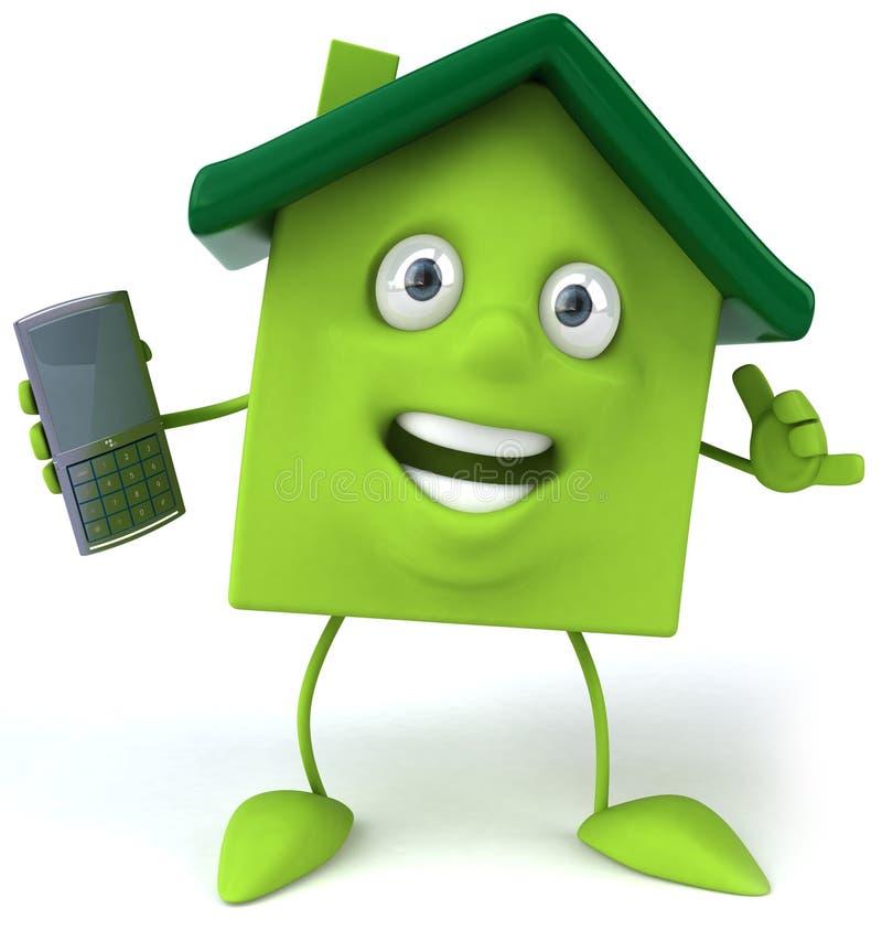 Download Zielony dom ilustracji. Ilustracja złożonej z chrom, globalny - 13337884