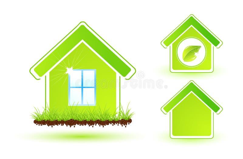 Zielony Dom Fotografia Stock