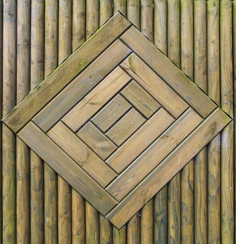 Zielony drewna ogrodzenia wzór obraz royalty free