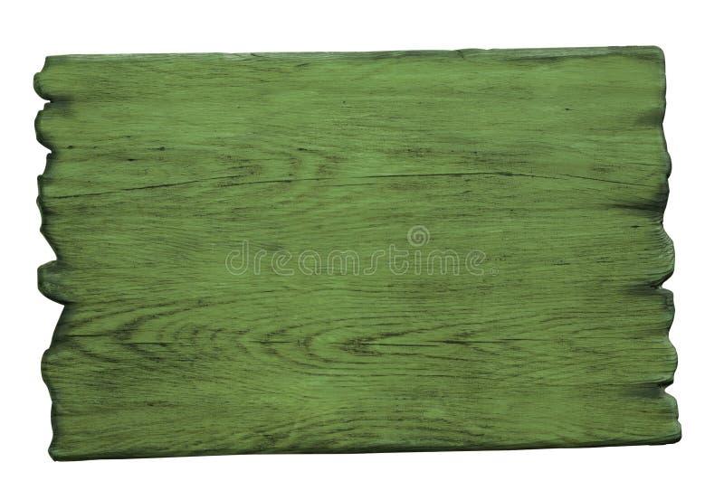 Download Zielony Drewno Znak Odizolowywający Na Bielu Obraz Stock - Obraz złożonej z gwóźdź, szakla: 53786797