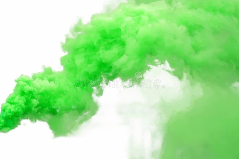 zielony dym zdjęcie stock