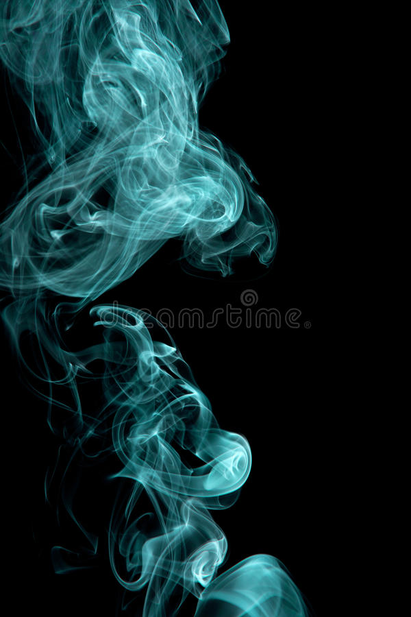 Zielony dym obraz royalty free