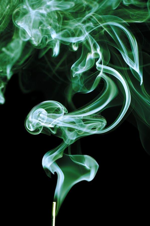 Zielony dym Na Czarnym tle zdjęcia royalty free