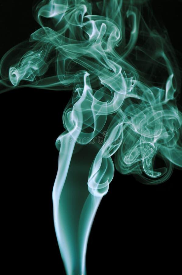 Zielony dym Na Czarnym tle fotografia royalty free