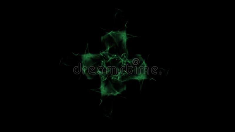 Zielony dym Odizolowywający, Przecinający kształt obraz stock