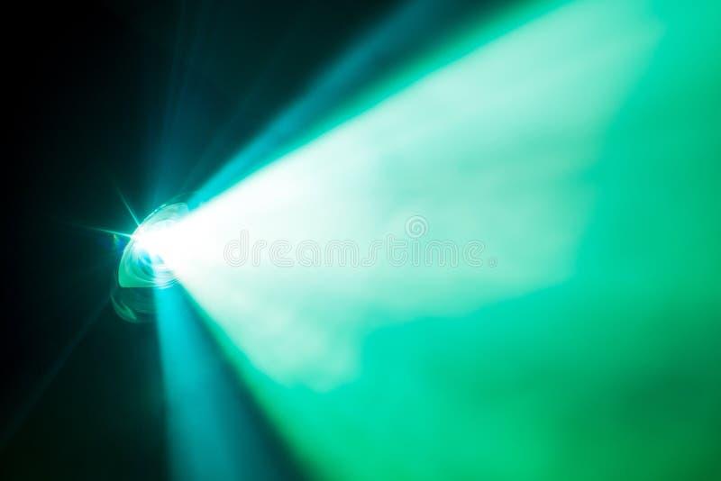 Zielony dymny światło reflektorów zdjęcia royalty free