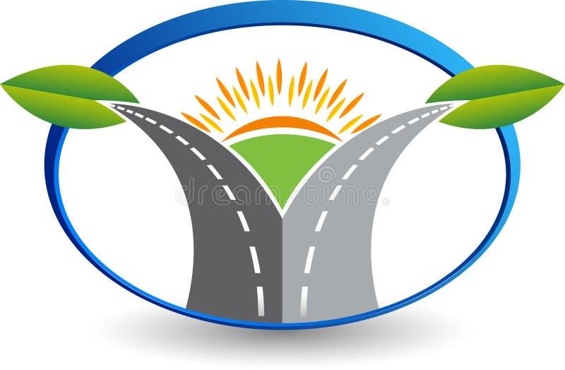 Zielony Eco drogi logo ilustracja wektor