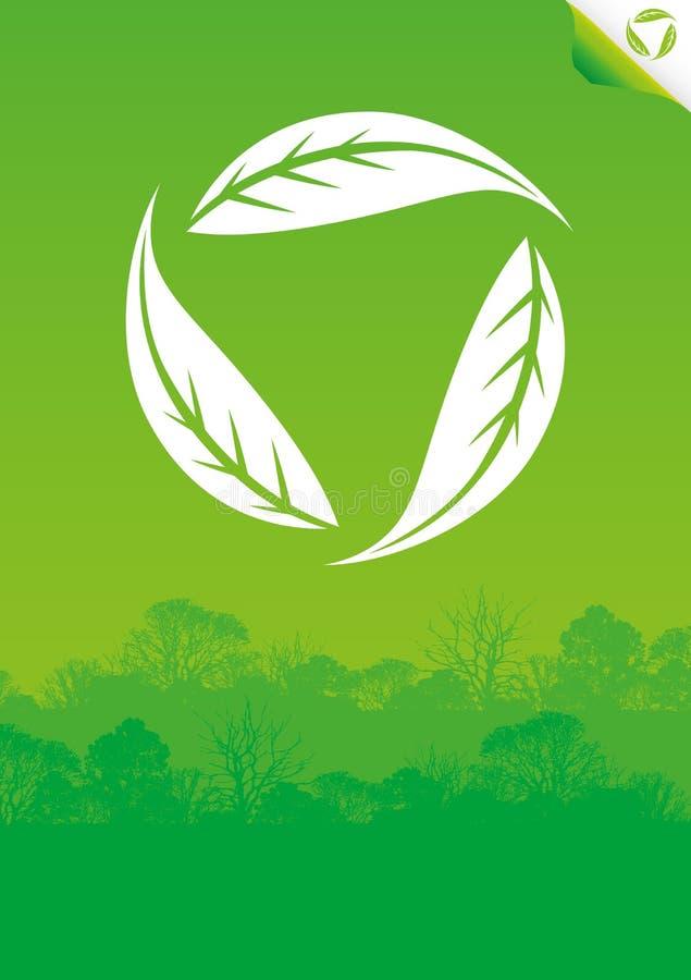 zielony eco plakat ilustracji