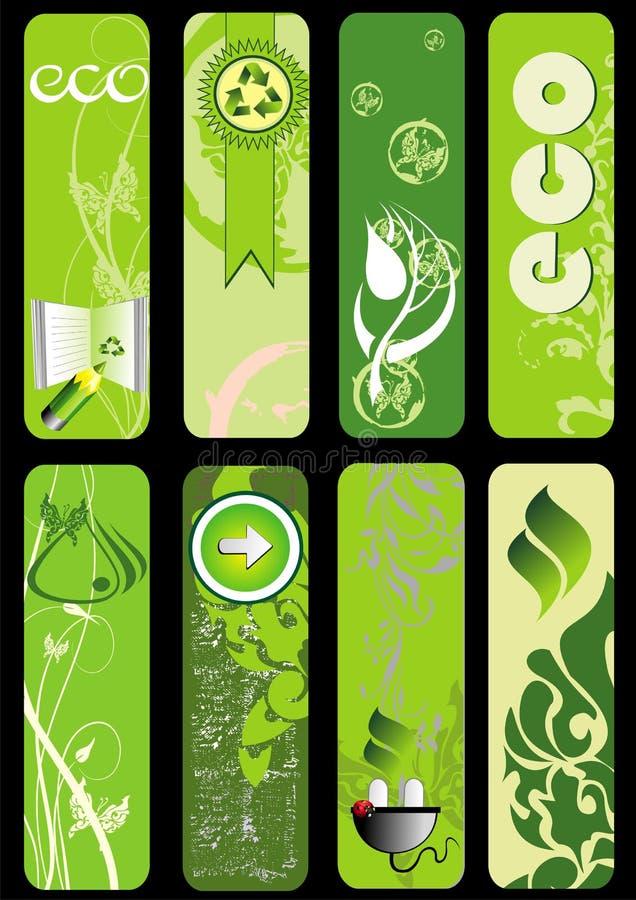 zielony eco set ilustracja wektor